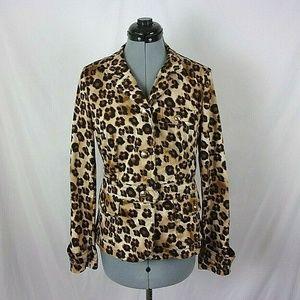 Charter Club Leopard Jacket Women's 4 Blazer Style